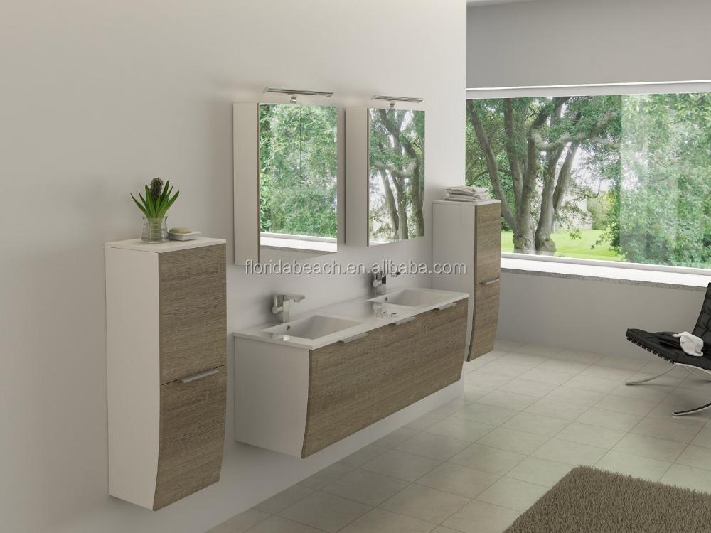 2015 waterproof vanity pvc cabinet knock down furniture for Waterproof bathroom cabinets