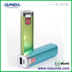 MINI power bank,Factory price,2600mAh beautiful aluminium mobile power