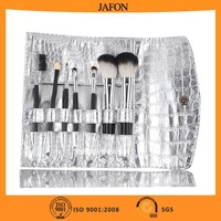 Silver 7pcs band name make up brush set