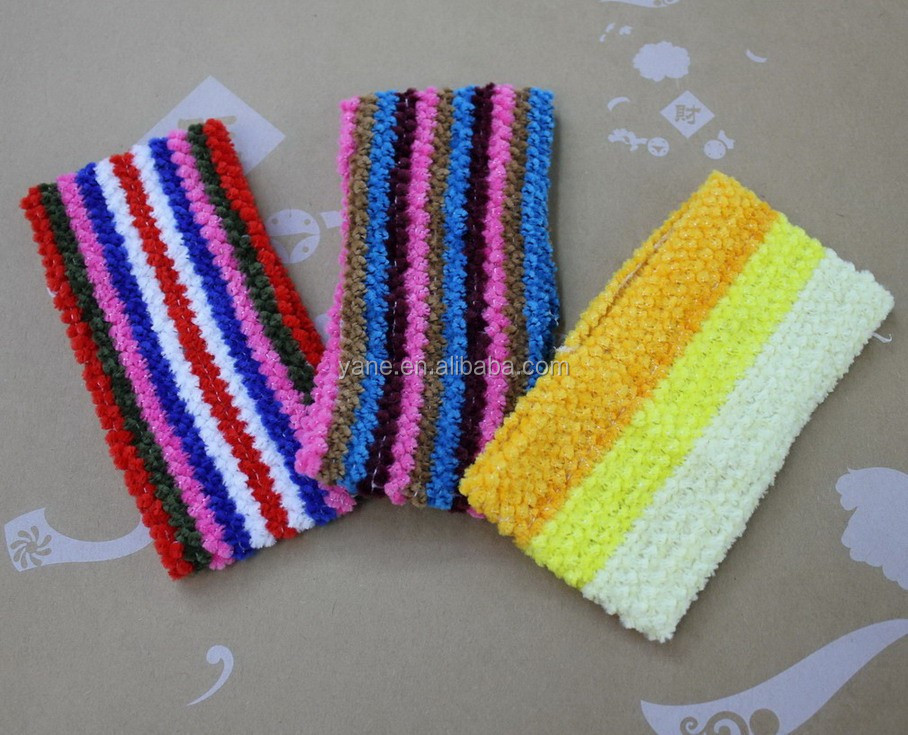 Crochet elastic headbands hair net for teenagers, headband wholesale