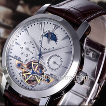 Automatic mechanical business and leisure fashion men's antique skeleton loop watch