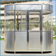 security house, stainless steel guard house low cost sentry box booth
