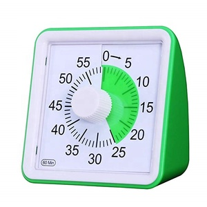 60 Minute Visual Silent Analog Timer Time Management Tool for Classroom Meeting Countdown Clock