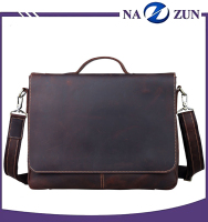 Factory Supply Good Quality Man's Crazy Horse Leather Messenger Bags
