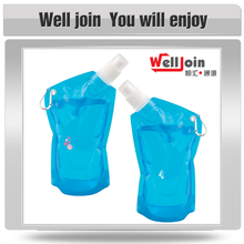 Wholesale 480ML BPA-Free foldable plastic water bottle for drinking