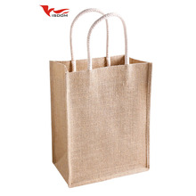 Factory Wholesale Natural color Eco friendly Jute Promotional Gifts Bag