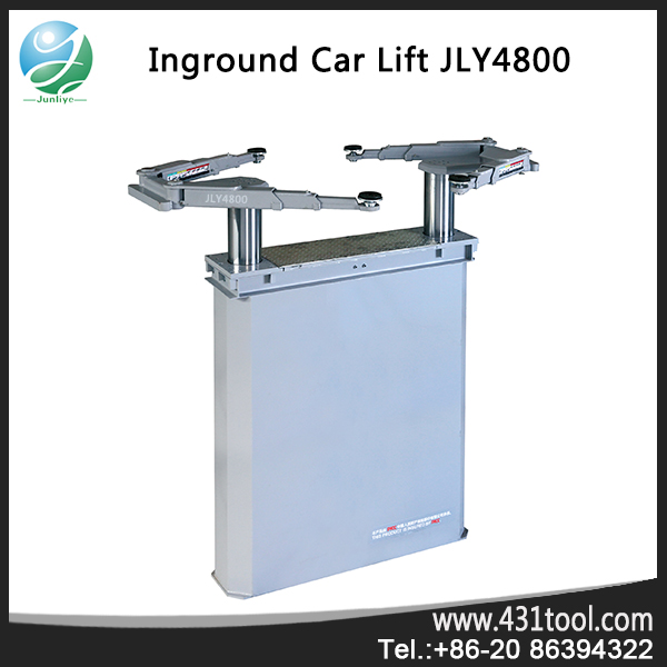 workshop two post hydraulic ground car lift rolling jack