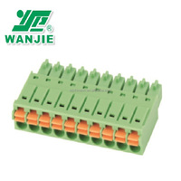 Spring, Pluggable, 3.81mm terminal block WJ15EDGKN-3.81