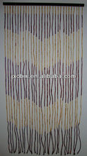 Custom Bamboo Door Curtains Natural Unfinished Wood Beads