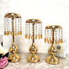 Factory Supplies Wedding Props Main Table Decoration Holiday Decoration Ornaments European Gold Crystal Candlestick
