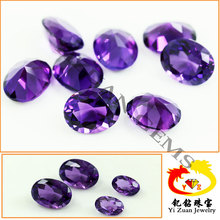 Automatic machine cut facets natural amethyst crystal