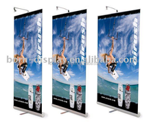 Exhibition Advertising Show Luxury Aluminum Material Base 90*200MM Size Promotion Roll Up Banner Display