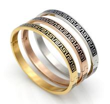 Wholesale Dubai Kada Gold Jewelry 316L Stainless Steel Women Men Couples Enamel Vintage Bracelet Bangles