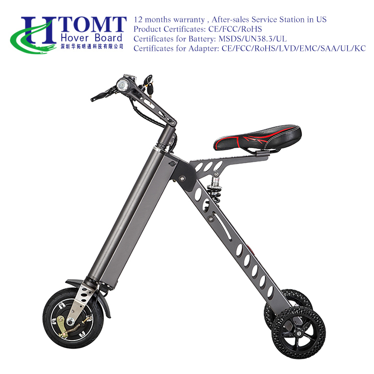 2016 New fashion design smart three wheel scooter electric three wheel bike with pedal for teenagers