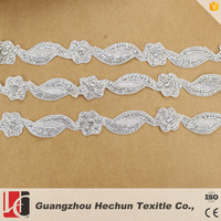 HC-1162 HeChun hot sale flower shape trimming with rhinestone for wedding