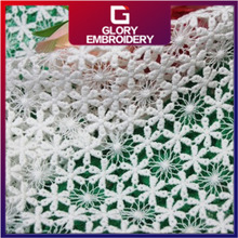 {Guipure lace}2016 heavy TRADE ASSURANCE 100 cotton african chemical embroidery guipure lace fabric