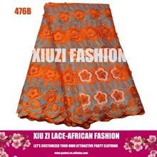 Dresses of net fabrics african lace gowns for wedding with embroidery floral beads