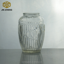 100%quality guarantee wholesale product 500 ml 17oz irregular wavy honey glass jar with plain top and wooden cork plug