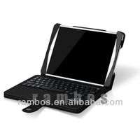 Bluetooth Wireless Detachable Keyboard + Leather Stand Case for iPad Mini 2 with litch Pattern