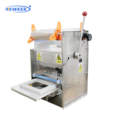 NEWEEK plastic bowl meal tray automated cup lid sealing machine