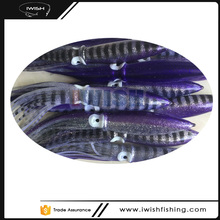 Daisy Chain Accessories Purple And Black Rows Bulb Squid Lure For Salt Water Fishing
