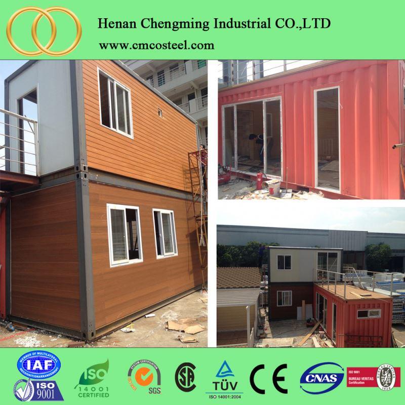 Panel s ndwich de estructura de acero casa de contenedor casa de panel s ndwich 20ft de la casa - Casas de panel sandwich ...