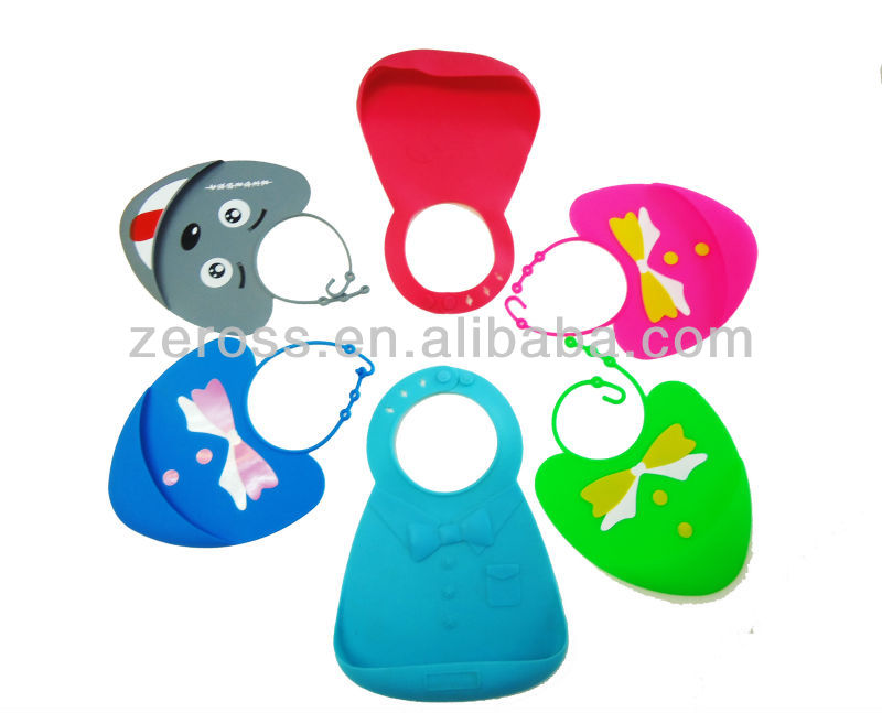 Silicone Disposable Baby Bib/Apron with Snaps(ZS2014001BP)