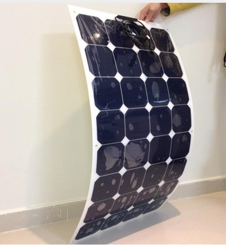 China Factory Offer Sunpower Solar Panel Semi Flexible Solar Panel for Curving Irregular Roof System