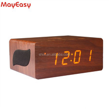 wireless charger furniture bluetooth speaker with alarm clock