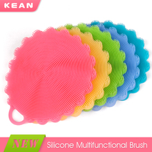 Wholesale durable soft eco-friendly bpa free silicone floor brush