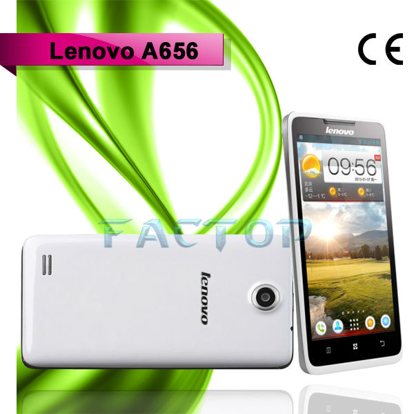 china mobile phone Lenovo A656 Android 5 inch Touch Screen Quad-core 1.2GHz White
