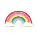 Color Filled Enamel Rainbow Pin Badge Decorative Metal Badge Pin Rainbow Enamel Pin