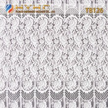 High Quality 150cm Cotton/Nylon Knitted Eyelash Lace Fabric T8126
