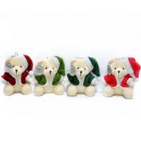 Chiristamas teddy bear plush toys with hat plush toys for crane machines