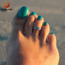 Women Charming Fashion Sexy Lady Elegant Opening Adjustable Antique Silver Metal Toe Ring Foot Beach Jewelry