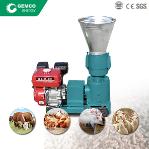 Factory price mini gasoline engine home farm live stock fish chicken cattle feed processing uses pellet feed machine for sale