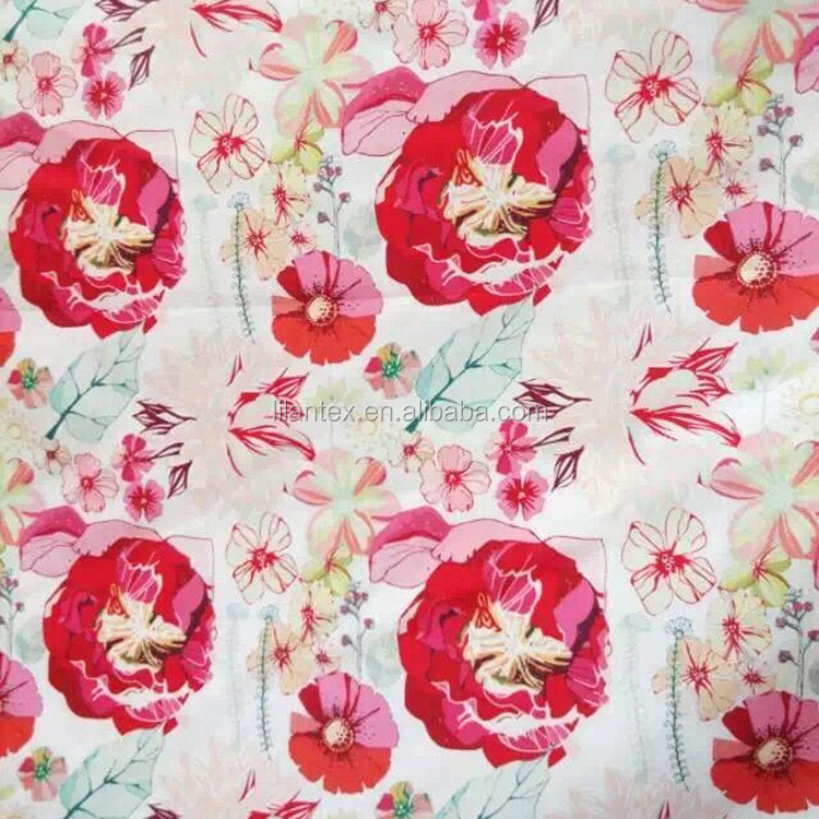 New products on March 15th Custom new design high quality digital printing cotton strech fabric