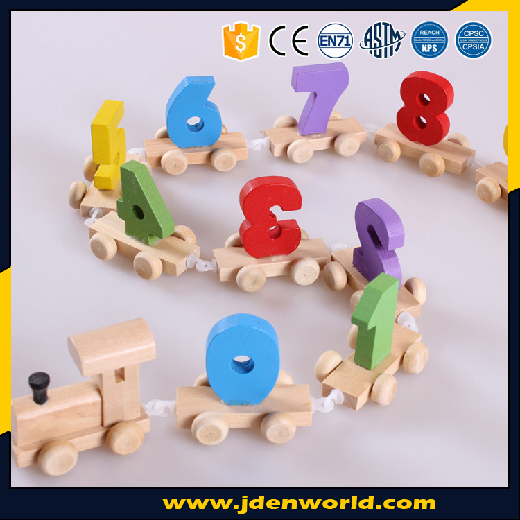 Babies desirable attractive number train different color wooden toy