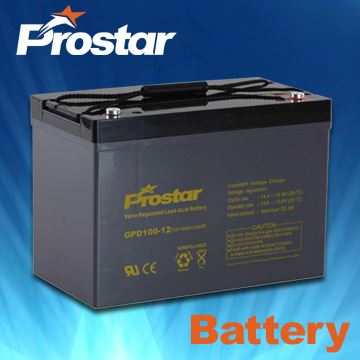 Rechargeable SLA Deep Cycle Battery with AGM 12V100AH