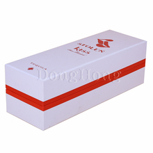 Red Foil fancy white cardboard packaging paper wine box