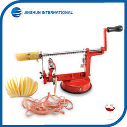 Durable Apple Slicing Coring and Peeling Potatoes Machine,Stainless Steel Blades With Suction Kitchen Appliance