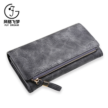 New fashion factory cheap price handmade lady coin genuine leather wallet