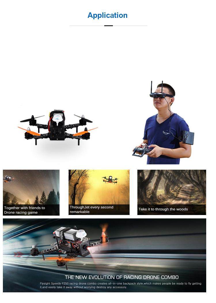 Flysight Speedy F250 V1.0 FPV Racer quadcopter rc camera drone with hd camera