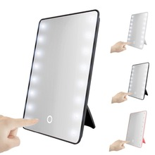 Fashion Led light make up mirror/16 Led table mirror with touch control switch
