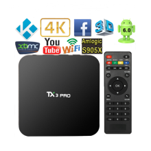 TX3 PRO Smart Android TV Amlogic S905X Quad Core Set Top Box 1GB 8GB Android 6.0 KODI 16.1 4K TV Box H.265 WIFI Miracast