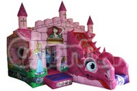 Kids Inflatable Fairytale Princess Bouncer and Slide Combo