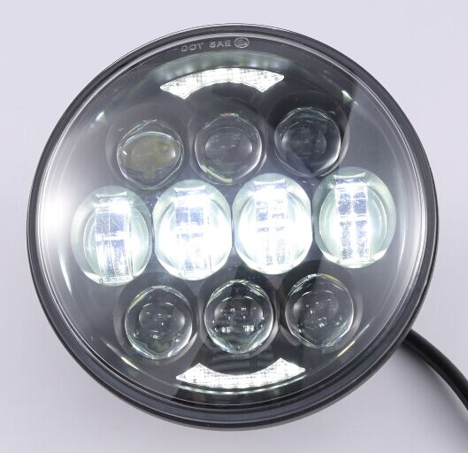"Super brightness 80W 5.75"" high low beam motorcycle 5.75 inch harley led headlight for Davidson"