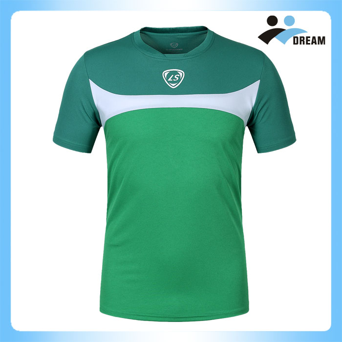 DREAM SPORT Custom China dry fit full sublimation breathable green t-shirt printing