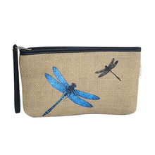 Eco friendly cosmetic bag jute burlap cosmetic bag with zipper