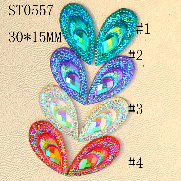 Taidian Peacock Eye body decoration Cabochon Flatback party makeup face jewels Rhinestone